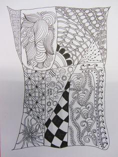 zentangle by Sandra of Zen Doodle Club
