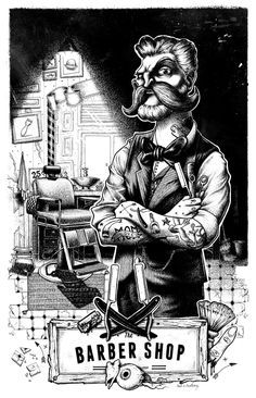 The Barber Shop by Neel's Anatomy, via Behance