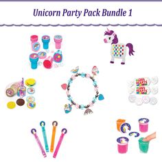 Made About Unicorns! Unicorn Party Bag Fillers, Ideal For Birthday's and Parties by TheKraftLadyGB on Etsy Unicorn Party Bags, Unicorn Birthday Parties, Rainbow Slime, Rainbow Unicorn, Love Heart Sweets, Fun Crafts, Paper Crafts, Bubble Wands, Party Bag Fillers