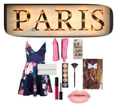 """~Visiting Paris✈️~"" by beautybydominican ❤ liked on Polyvore featuring AX Paris, Jimmy Choo, Whistles, Casetify and Lime Crime"