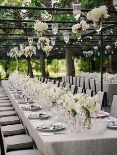 Classic white reception table