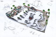 Check out these really cool skating concept images I´ve found online. Skate 3 wants to incorporate the different concepts brought out. Skate 3, Skate Park, Game Concept, Cool Stuff, Games, Skateboarding, Drill, Image, Hole Punch