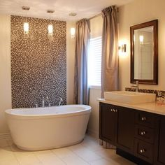 Window Treatment Above Tub Design Ideas, Pictures, Remodel, and Decor - page 2