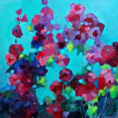 Buy Sultry Summer Day in the Garden, Acrylic painting by Kerri Blackman on…