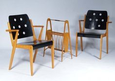 Franz Schuster, 1953  Mid century furniture straight and plain.