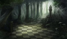 background design contest for alice in wonderland Alice In Wonderland Aesthetic, Dark Alice In Wonderland, Alice In Wonderland Background, Concept Art Tutorial, Creepy Houses, Alice Madness Returns, Time Painting, Damier, Landscape Artwork