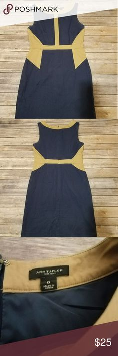 """Ann Taylor block dress Size 6 Super cute and slimming Stretchy Shoulder to hem is about 36"""" Ann Taylor Dresses Midi"""