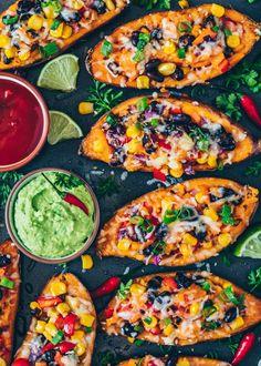 Mexikanisch gefüllte Süßkartoffeln – Vegan potato al horno asadas fritas recetas diet diet plan diet recipes recipes Mexican Food Recipes, Vegetarian Recipes, Dinner Recipes, Healthy Recipes, Protein Recipes, Healthy Sweets, Healthy Nutrition, Healthy Cooking, Healthy Eating