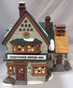 DEPT 56 GIGGELSWICK MUTTON & HAM CHRISTMAS HOLIDAY DICKENS VILLAGE BUILDING