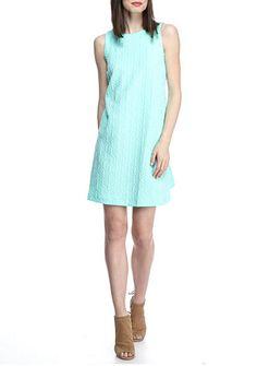 crown & ivy™ Jacquard Swing Dress