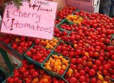 Sweet cherry tomatoes at San Rafael Farmers' Market - #SanRafaelCalifornia - #MarinCounty
