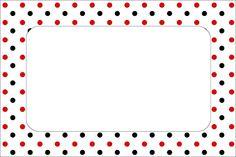 Poá Vermelho e Preto – Kit Completo com molduras para convites, rótulos para guloseimas, lembrancinhas e imagens! |Fazendo a Nossa Festa