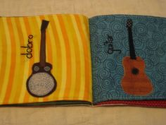 Bluegrass Band Cloth Book @ exlibrishandmade.  Teach them while they are young :)