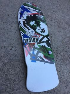 "Vision Original MG Old School Reissue Deck 10"""" X 30"""" White Green"