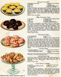 Desserts from 20's cook book