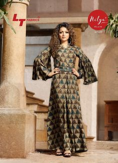 Multicoloured Rayon Dress for Women's Size : M (Bust – inches) L (Bust – inches) XL… – appreciatory-access Printed Kurti Designs, Blouse Designs, Ethnic Fashion, Indian Fashion, Womens Fashion, Latest Gown Styles, Evening Gowns Online, Casual Dresses For Women, Clothes For Women