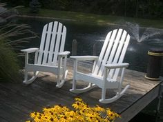 Polywood Classic Adirondack Rocking Chair Set for 2 | CLASSRPR