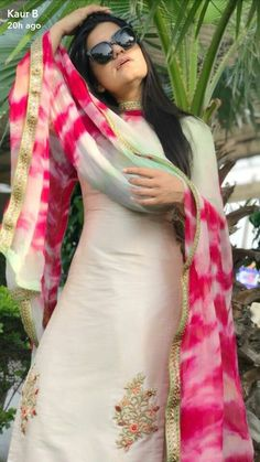 Embroidery Suits Punjabi, Embroidery Suits Design, Embroidery Designs, Designer Punjabi Suits, Indian Designer Wear, Kaur B Suits, Boutique Suits, Dress Indian Style, Indian Dresses