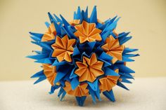 Origami Kusudama Flower Folding Instructions - How to make an
