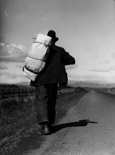 "Dorothea Lange - ""Bindle Stiff"" on road to Sacramento #Photography"