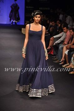 Anita Dongre maxi dress inspiration with contrast ribbon for border