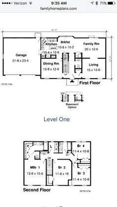 Floor Plans. Center Hall Colonial ...