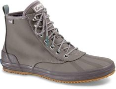 Complete your fashionable fall look with these women's Keds Scout Splash ankle boots. Rain Shoes, High Top Sneakers, Grey Boots Outfit, What Is Fashion, Keds Shoes, Hiking Boots, Ankle Boots, Size 10