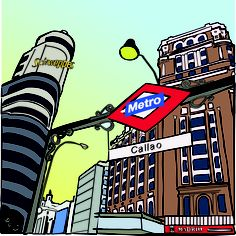 Callao subway - Madrid Illustrated