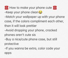How you can make your phone cute.