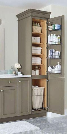 Organize a farmhouse style bathroom cabinet