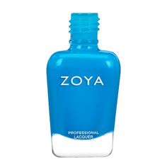 Zoya in Echo can best be described as a deep lagoon blue neon. Echo comes equipped with the Z-Wide Brush.EasyNeons do not require any special base coat, and dry matte - but can be worn with a top coat to add a high shine finish. We recommend Naked Manicure Ultra Glossy Seal.Due to the unique matte formulation, color is typically not as long-wearing as traditional nail color.Please note: Neon pigments may vary slightly from batch to batch. Bright Blue Nails, Zoya Collection, Base Coat, Top Coat, Blue Nail Polish, Blue Lagoon, Natural Nails, Hand Sanitizer, Nail Care