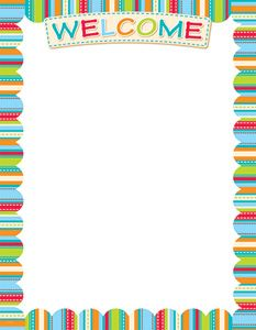 Dots On Turquoise Welcome Chart