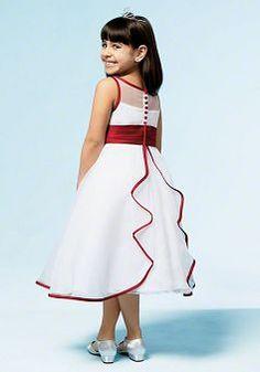Tea Length Organza A line Bateau Flower Girl Dress - 1300106415B - US$99.99 - BellasDress