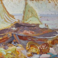 Magnus Enckell  Boats on the Shore