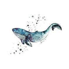 Art Print Watercolor Blue Whale, Home Decor, Ocean Art Print, Sea Life ❤ liked on Polyvore featuring home, home decor, wall art, sea home decor, watercolor illustration, blue home accessories, watercolor wall art and whale home decor