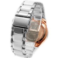 FW830AC Nuovo Shiny Silver Banda Rose Gold Tone cassa dell'orologio quadrante bianco Orologio bracciale