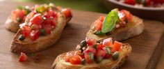 Bruschetta is one of our favorite finger foods. It's an easy appetizer that requires just 10 minutes of prep and packs big flavor. Topped with a savory blend of tomatoes, capers, garlic and basil, bruschetta is the appetizer you need at your next party.