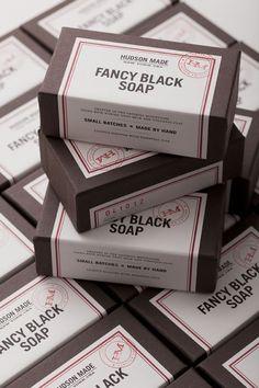 Hudson Made Fancy Black Goat Milk Soap Packaging | Inspiration DE in Inspiration