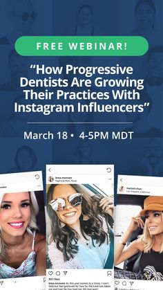 JOIN US for an amazing dental influencer marketing webinar! Instagram Influencer, Influencer Marketing, Teamwork, Social Media Marketing, Dental, Join, Amazing, Group Work, Dentist Clinic