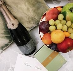 Le Meurice Paris gifts fruits and champagne
