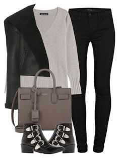 """Untitled #4012"" by maddie1128 ❤ liked on Polyvore featuring J Brand, IRIS VON ARNIM, Yeezy by Kanye West, Yves Saint Laurent and Toga"