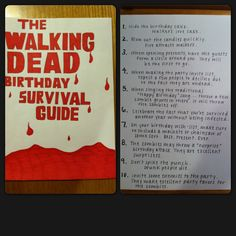 Birthday card I made my brother, in honor of our favorite show. WALKING DEAD