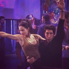 Ross and Monica Geller The Routine Friends tv show Funny quotes