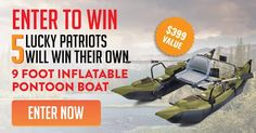 Enter To Win Your Own 9' Colorado Pontoon Boat #contestentry