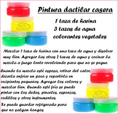 Escuela infantil castillo de Blanca: PINTURA DACTILAR CASERA