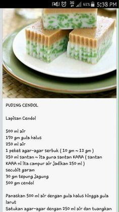 puding cendol Cold Desserts, Pudding Desserts, Cookie Desserts, Delicious Desserts, Indonesian Desserts, Asian Desserts, Indonesian Food, Malaysian Dessert, Malaysian Food