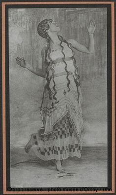 """Female dancer dressed as nymph in Nijinsky's ballet """"Afternoon of a faun"""", photographed by Baron Adolf de Meyer.(Shot through gauze with manipulation of negative) Afternoon Of A Faun, Photo Art, Nymph, Painting, Faun, Dancer Photography, Art, Female Dancers, Fine Art Photo"""