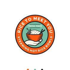 created a custom logo design on They got dozens of unique ideas from professional designers and picked their favorite. Food Graphic Design, Food Logo Design, Logo Food, Custom Logo Design, Logo Design Contest, Branding Design, Logo Sushi, Logo Rice, Delivery Comida