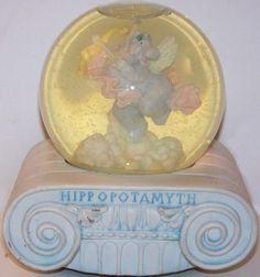 San Francisco Music Box Company Marjorie Sarnat Hippopotamyth Musical Snowglobe…