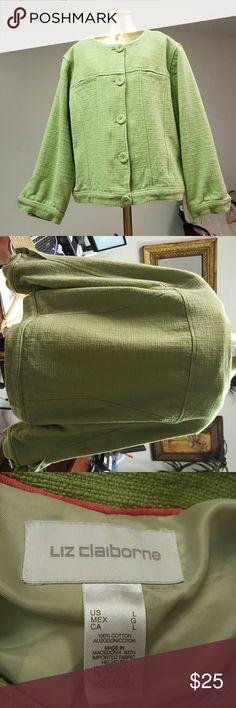 Jacket Green short jacket with 3/4 sleeves Liz Claiborne Jackets & Coats Blazers